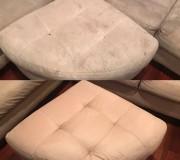 Результат глубокой чистки диванного элемента