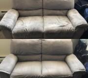 Текстильная диванная обивка до и после