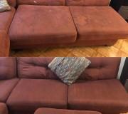 Фото кирпичного дивана до и после глубокой чистки