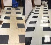 Керамогранитная плитка до и после чистки