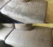 Результат экстракторной химчистки углового дивана