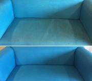 Химчистка голубого детского диванчика