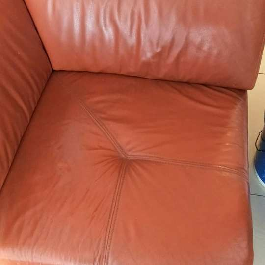 Кожаное сиденье до чистки