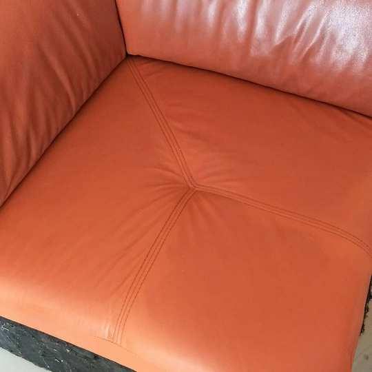 Кожанное сиденье после хим.чистки